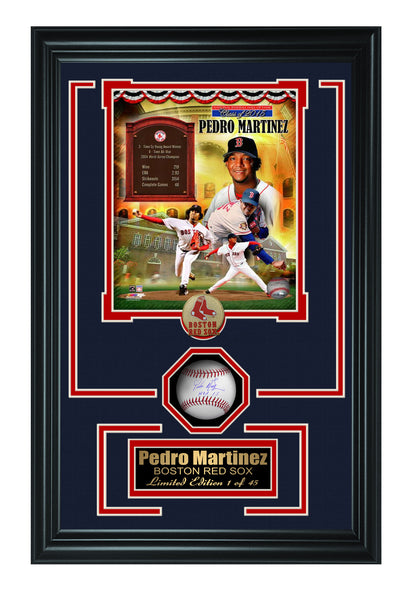 Pedro Martinez  Baseball Shadow Box Frame.