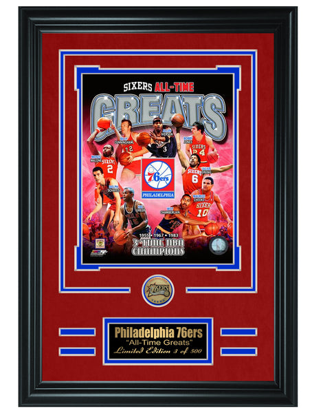 NBA Philadelphia Sixers -All-Time Greats Limited Edition Collage