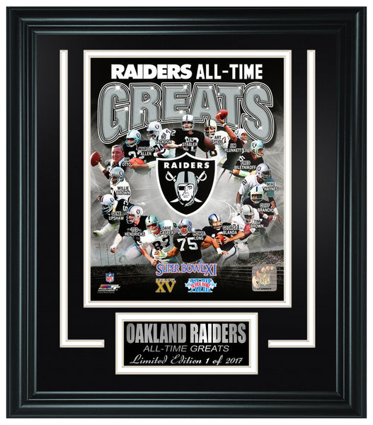 Oakland Raiders All-Time Greats Limited Edition Frame. FTSPA173