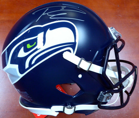 RUSSELL WILSON AUTOGRAPHED SIGNED SEAHAWKS FULL SIZE SPEED AUTH HELMET RW.