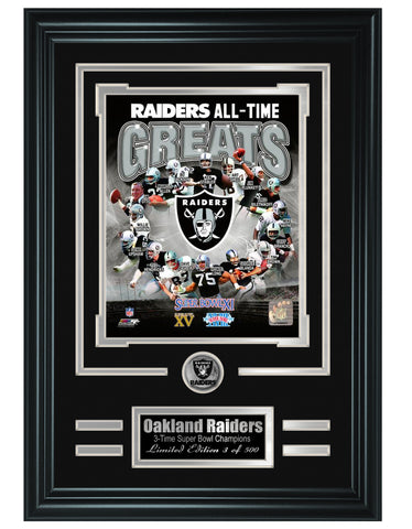 Oakland Raiders - All-Time Greats Limited Edition Collage