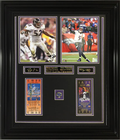 Ravens- Ray Lewis & Joe Flacco 2-Time Super Bowl Champions Collage