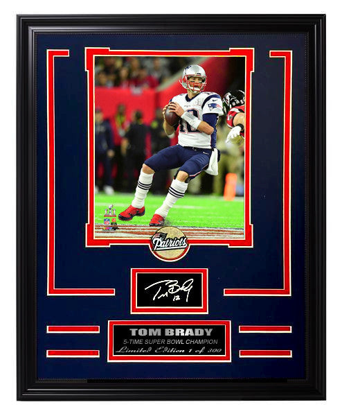 New England Patriots-Tom Brady Limited Edition Engraved Signature Collage