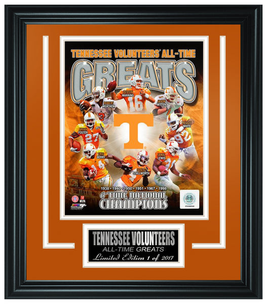 Tennessee Volunteers Limited Edition Frame  FTSQD169