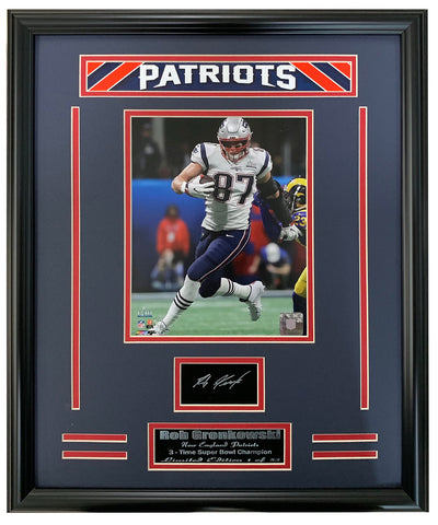 Patriots Super Bowl Champions Gronkowski Engraved Signature Frame.