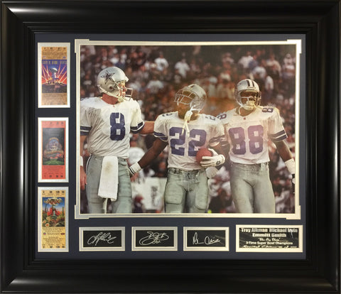 Cowboys Big 3 Super Bowl Champions frame
