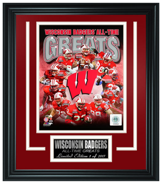 Wisconsin Badgers All-Time Greats Limited Edition Frame-FTSRB074