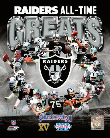 Oakland Raiders All-Time Greats 8x10 Photo