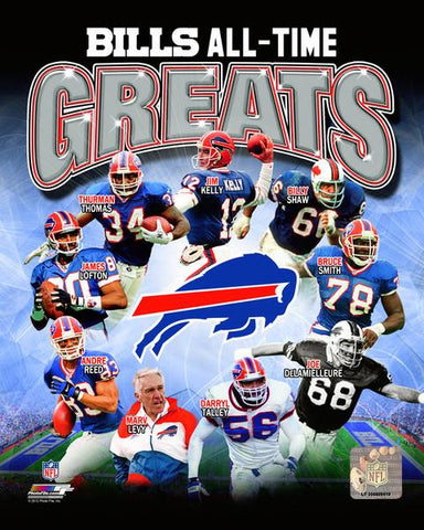 Buffalo Bills All-Time Greats 8x10 Photo