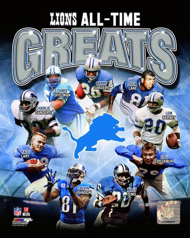 Detroit Lions All-Time Greats 8x10 Photo