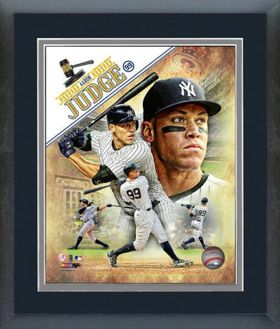 New York Yankees- Aaron Judge Portrait Plus M.L.B. Licensed 8x10 double matted and framed.