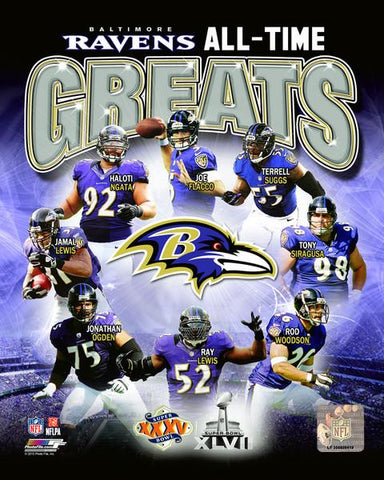Baltimore Ravens All-Time Greats 8x10 Photo