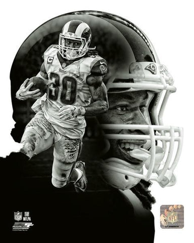 L.A.Rams Todd Gurley  Profile 8x10 N.F.L. Licensed Photo
