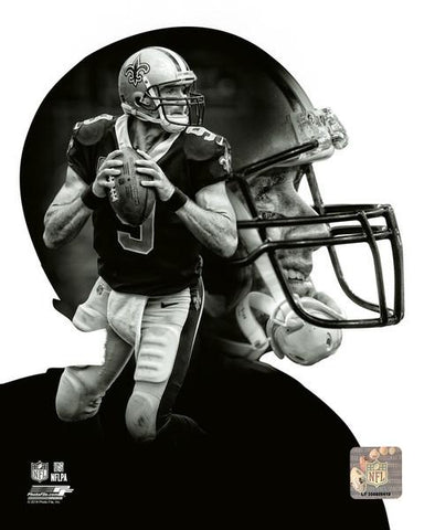 New Orlean Saints Drew Brees  Profile 8x10 N.F.L. Licensed Photo