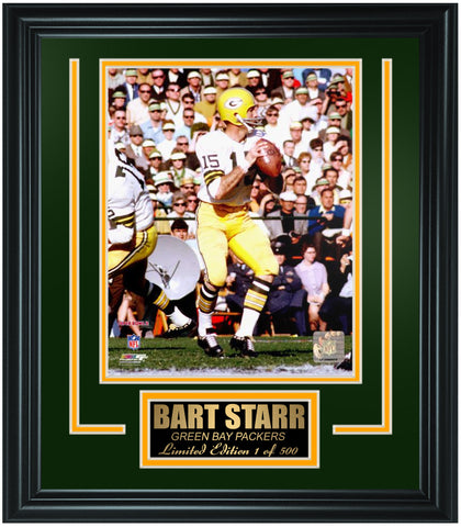 Green Bay Packers Bart Starr Limited Edition Frame. FTSMM039 - National Memorabilia