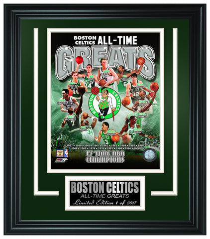 Boston Celtics All-Time Greats Limited Edition Frame. FTSOK247 - National Memorabilia