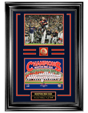 Boston Red Sox 2018 World Series Champions Celebration Collage