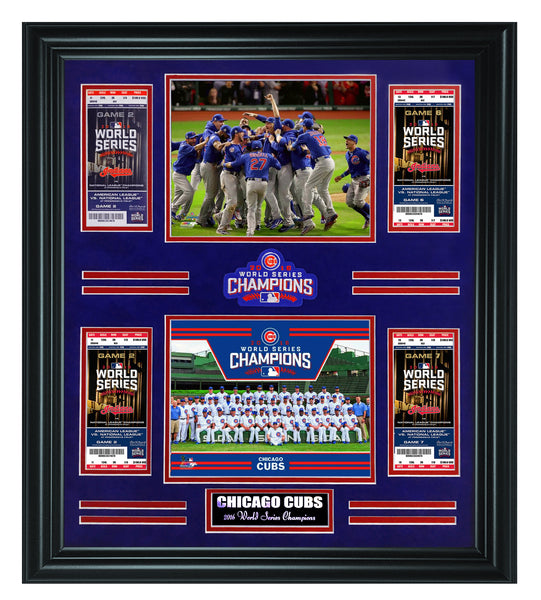 MLB Chicago Cubs- 2016 World Sereis Champions Tickets Frame