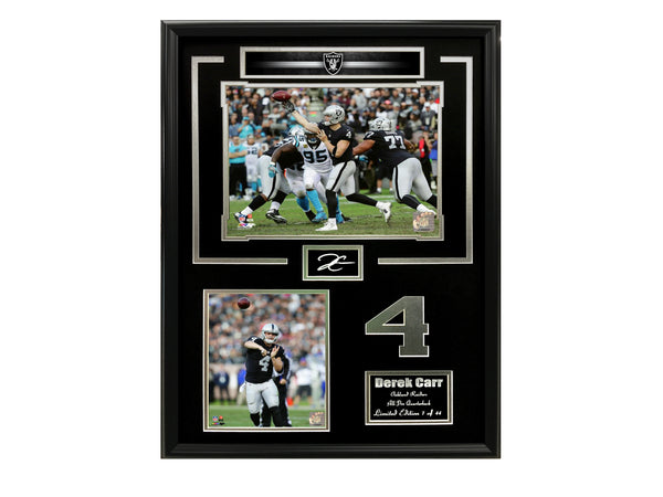 Raiders-Derek Carr Collage Engraved Signature Frame