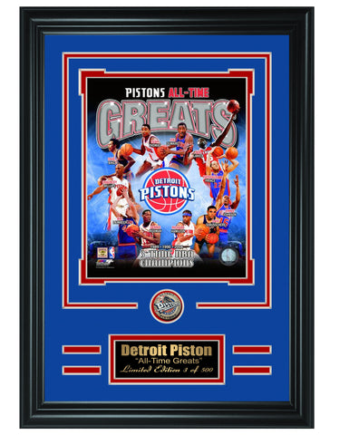 Detroit Pistons - All-Time Greats Limited Edition Collage - National Memorabilia
