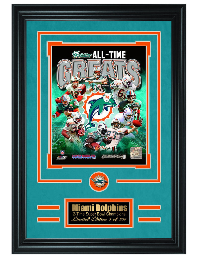 Miami dolphins all time greats limited edition collage frame miami dolphins all time greats limited edition collage jeuxipadfo Image collections