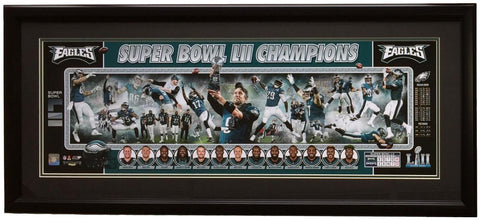 Philadelphia Eagles Framed 12x36 Super Bowl 52 LII Champions Panoramic Photo