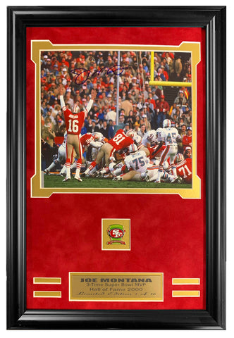 49ers Joe Montana Autographed 8x10 Framed Lt.Edition 1 of 16