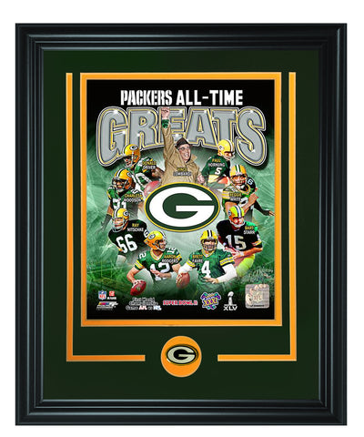 Green Bay Packers -Green Bay Packers All-Time Photo Framed - National Memorabilia