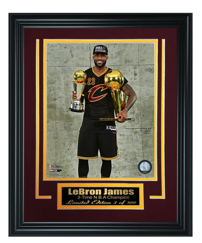 Cavaliers - LeBron James 8x10 Framed FTSTC186 - National Memorabilia