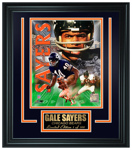 Chicago Bears- Gale Sayers Limited Edition Frame FTSGJ048 - National Memorabilia