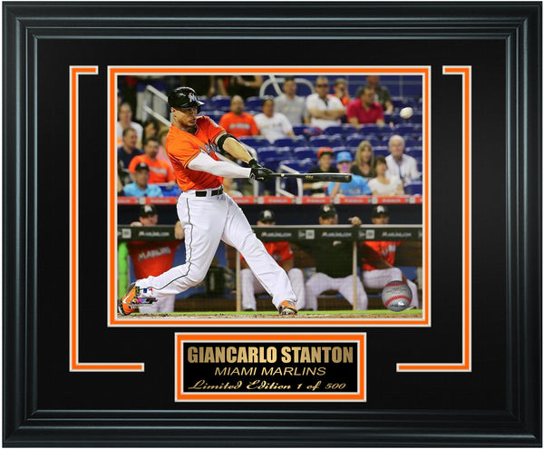 Miami Marlins - Giancarlo Stanton Limited Edition Frame. FTSSB243