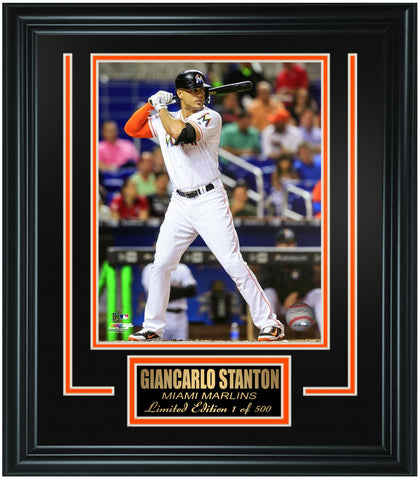 Miami Marlins - Giancarlo Stanton Limited Edition Frame. FTSSZ224