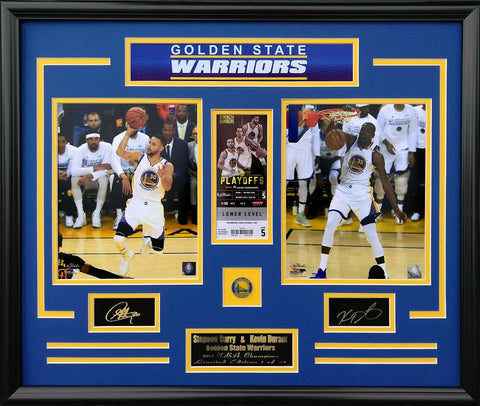Golden State Warriors-Kevin Durant & Stephen Curry Champions Collage-FTSSKD2PT - National Memorabilia