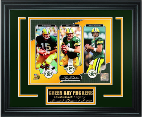 Green Bay Packers Quarterback Legacy Collection. FTSQN132 - National Memorabilia