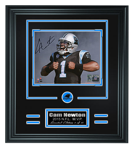 Carolina Panthers-Cam Newton Autographed Framed 8x10 Photo #3 - National Memorabilia