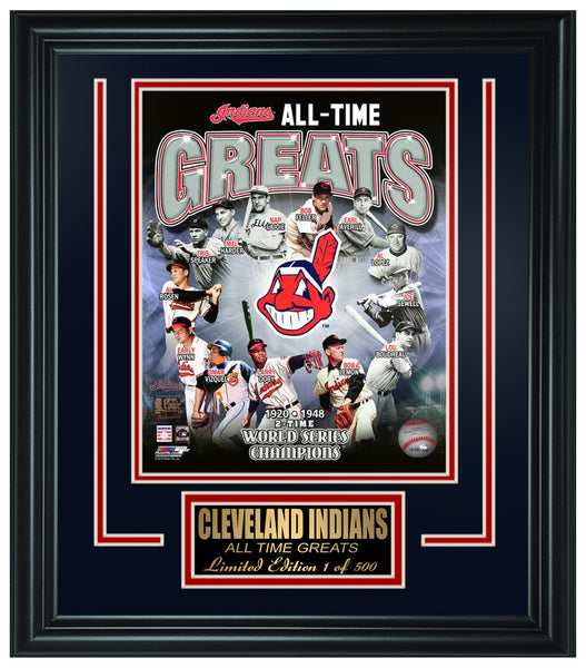MLB Cleveland Indians All-Time Greats Limited Edition Frame. FTSSQ034