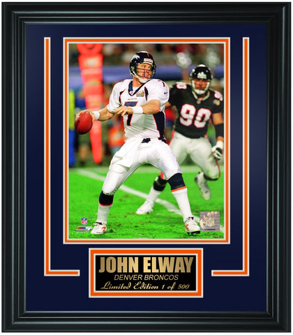 Denver Broncos- John Elway Limited Edition Frame. FTSRA058 - National Memorabilia