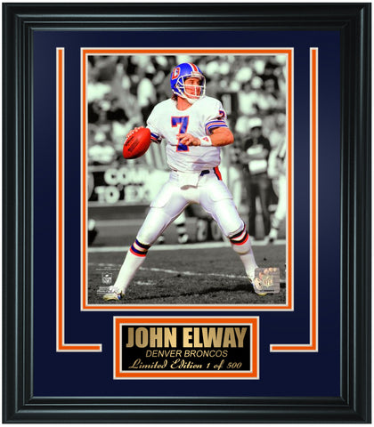 Denver Broncos- John Elway Limited Edition Frame. FTSLV208 - National Memorabilia