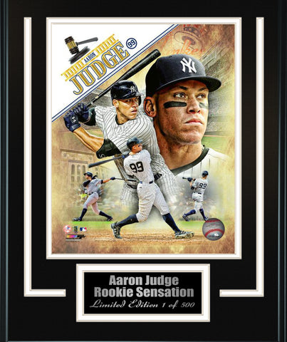 Yankees-Aaron Judge Composite 8x10 Matted and Framed. FTSD161