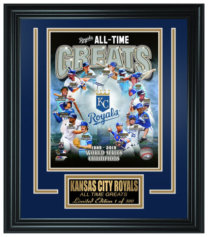 MLB Kansas City Royals All-Time Greats Limited Edition Frame. FTSSL133
