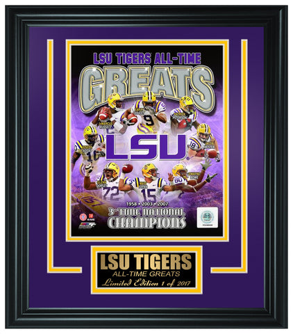 College LSU Tigers Limited Edition All-Time Greats Frame. FTSOE137