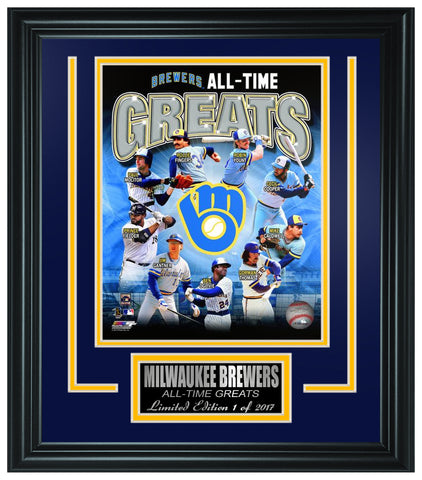 Brewers All-Time Greats Limited Edition Frame. - National Memorabilia