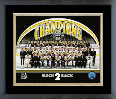 Penguins-Back To Back Champions Framed Licensed Photo FTSUE167