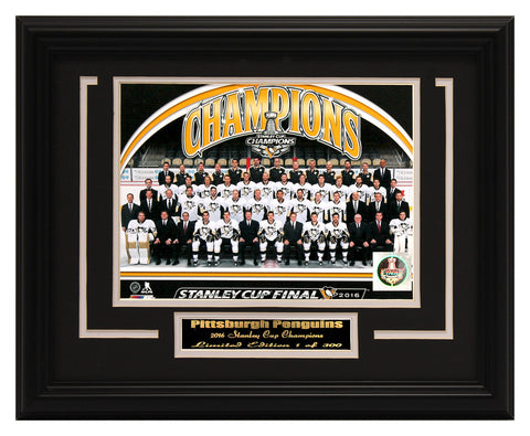 NHL PITTSBURGH PENGUINS - 2016 CHAMPIONS FRAMED PHOTO COLLAGE