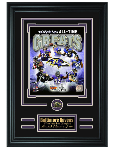 Baltimore Ravens- All-Time Greats Limited Edition Collage