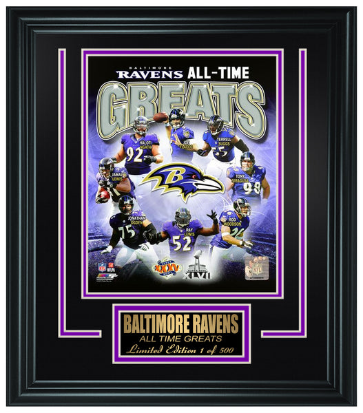 Baltimore Ravens All-Time Greats Limited Edition Frame. FTSSF180