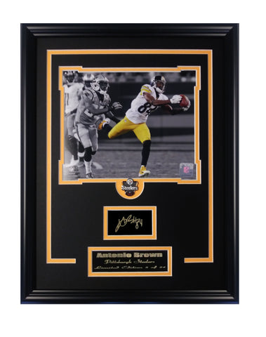 Pittsburgh Steelers Antonio Brown Limited Edition Engraved Signature Collage.