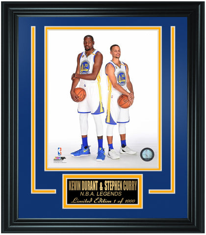 Golden State Warriors Kevin Durant and Stephen Curry Limited Edition Frame. FTSTK095 - National Memorabilia