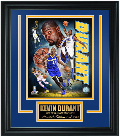 Golden State Warriors Kevin Durant Limited Edition Frame. FTSTP168 - National Memorabilia