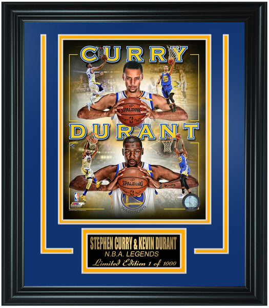 Golden State Warriors Stephen Curry and Kevin Durant Limited Edition Frame. FTSTP078